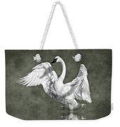 Trumpeter Swan In The Fog Weekender Tote Bag