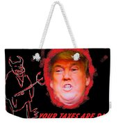 Trumps Taxes Weekender Tote Bag