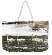Trumpter Swans Panorama Weekender Tote Bag