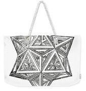Truncated And Elevated Hexahedron With Open Faces Weekender Tote Bag