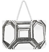 Truncated Octahedron With Open Faces Weekender Tote Bag
