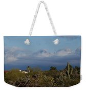 Tucson In Winter Weekender Tote Bag