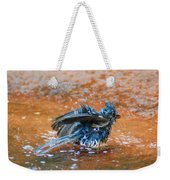 Tufted Titmouse Bath Weekender Tote Bag
