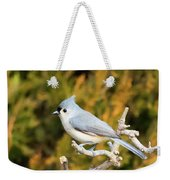 Tufted Titmouse On A Branch Weekender Tote Bag