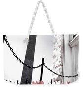 Tuilps And The Washington Monument  Weekender Tote Bag