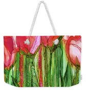 Tulip Bloomies 2 - Red Weekender Tote Bag