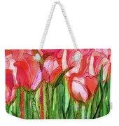 Tulip Bloomies 4 - Red Weekender Tote Bag