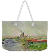 Tulip Field In Holland Weekender Tote Bag