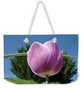 Tulip Flower Landscape Art Print Purple Tulips Baslee Weekender Tote Bag