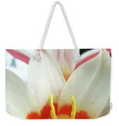 Tulip Flowers Art Prints 4 Spring White Tulip Flower Macro Floral Art Nature Weekender Tote Bag
