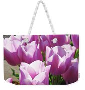Tulip Garden Flowers Purple Lavender Pastel Art Baslee Troutman Weekender Tote Bag