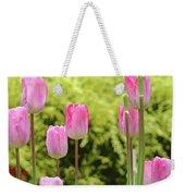 Tulip Garden Landscape Art Prints Pink Tulips Floral Baslee Troutman Weekender Tote Bag