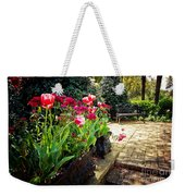 Tulips And Bench Weekender Tote Bag