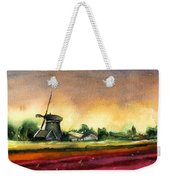 Tulips And Windmill From The Netherlands Weekender Tote Bag