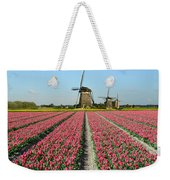 Tulips And Windmills In Holland Weekender Tote Bag