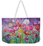 Tulips Are Magic In The Night Weekender Tote Bag