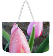 Tulips Artwork Pink Tulip Flowers Srping Florals Art Prints Baslee Troutman Weekender Tote Bag