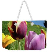 Tulips Artwork Tulip Flowers Spring Meadow Nature Art Prints Weekender Tote Bag