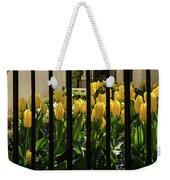 Tulips Behind Bars Weekender Tote Bag