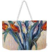 Tulips Weekender Tote Bag by Claude Monet