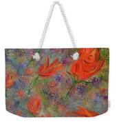 Tulips- Floral Art- Abstract Painting Weekender Tote Bag