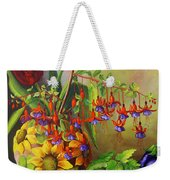 Tulips In A Vase With Some Tomatoes Weekender Tote Bag