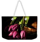 Tulips In Evening Sunlight Weekender Tote Bag