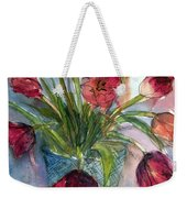 Tulips In Rosie's Vase Weekender Tote Bag