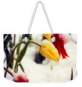 Tulips In The Snow Weekender Tote Bag