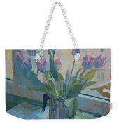 Tulips On A Window  Weekender Tote Bag