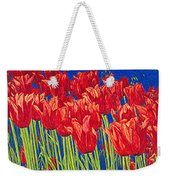 Tulips Tulip Flowers Fine Art Print Giclee High Quality Exceptional Color Garden Nature Botanical Weekender Tote Bag