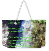 Tumble Off The Waterfall  Weekender Tote Bag