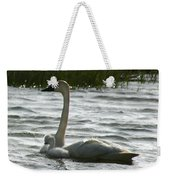 Tundra Swan And Signets Weekender Tote Bag