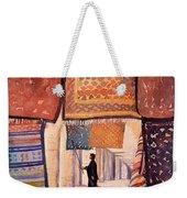 Tunisian Rug Vendor Weekender Tote Bag