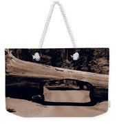 Tunnel Log - Sequoia National Park Weekender Tote Bag