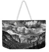 Tunnel View In Black And White Weekender Tote Bag