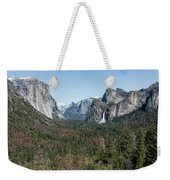 Tunnel View Of Yosemite During Spring Weekender Tote Bag