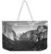 Tunnel View Yosemite B And W Weekender Tote Bag