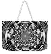 Tunnel Vision-black And White Weekender Tote Bag