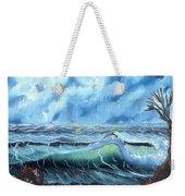 Turbulent Sea Weekender Tote Bag