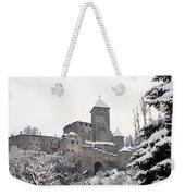 Tures Castle In The Snow Weekender Tote Bag