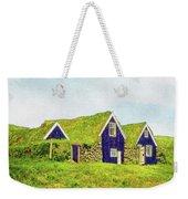 Turf Huts In Skaftafell Weekender Tote Bag