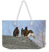 Turkey Vultures On Roof Weekender Tote Bag