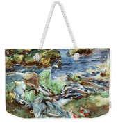 Turkish Woman By A Stream Weekender Tote Bag