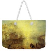Turner Joseph Mallord William Ancient Italy Ovid Banished From Rome Joseph Mallord William Turner Weekender Tote Bag