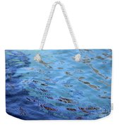 Turquoise And Blue Swirls Large Canvas Weekender Tote Bag