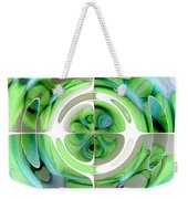 Turquoise And Green Abstract Collage Weekender Tote Bag
