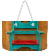 Turquoise And Red Chair Weekender Tote Bag