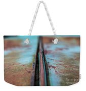 Turquoise And Rust Abstract Weekender Tote Bag