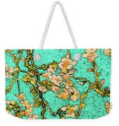 Turquoise Blossom Weekender Tote Bag